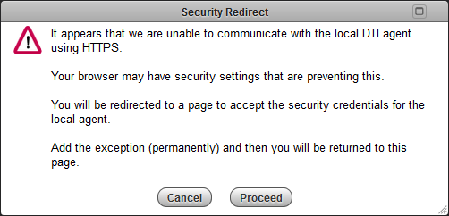 Security Redirect' message has appeared - what do I do